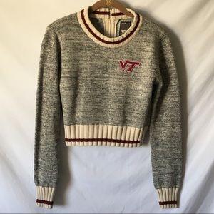 Bruzer Renu NCAA Virginia Tech Hokies Crop Sweater